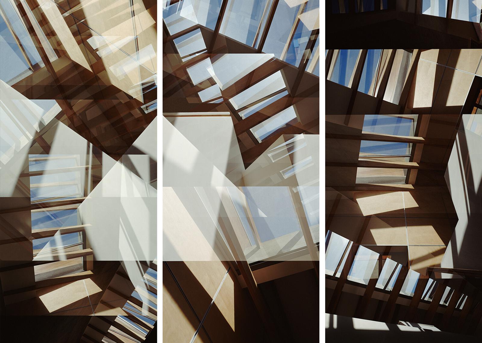 Carmy Skylight Triptych - Jenny Okun