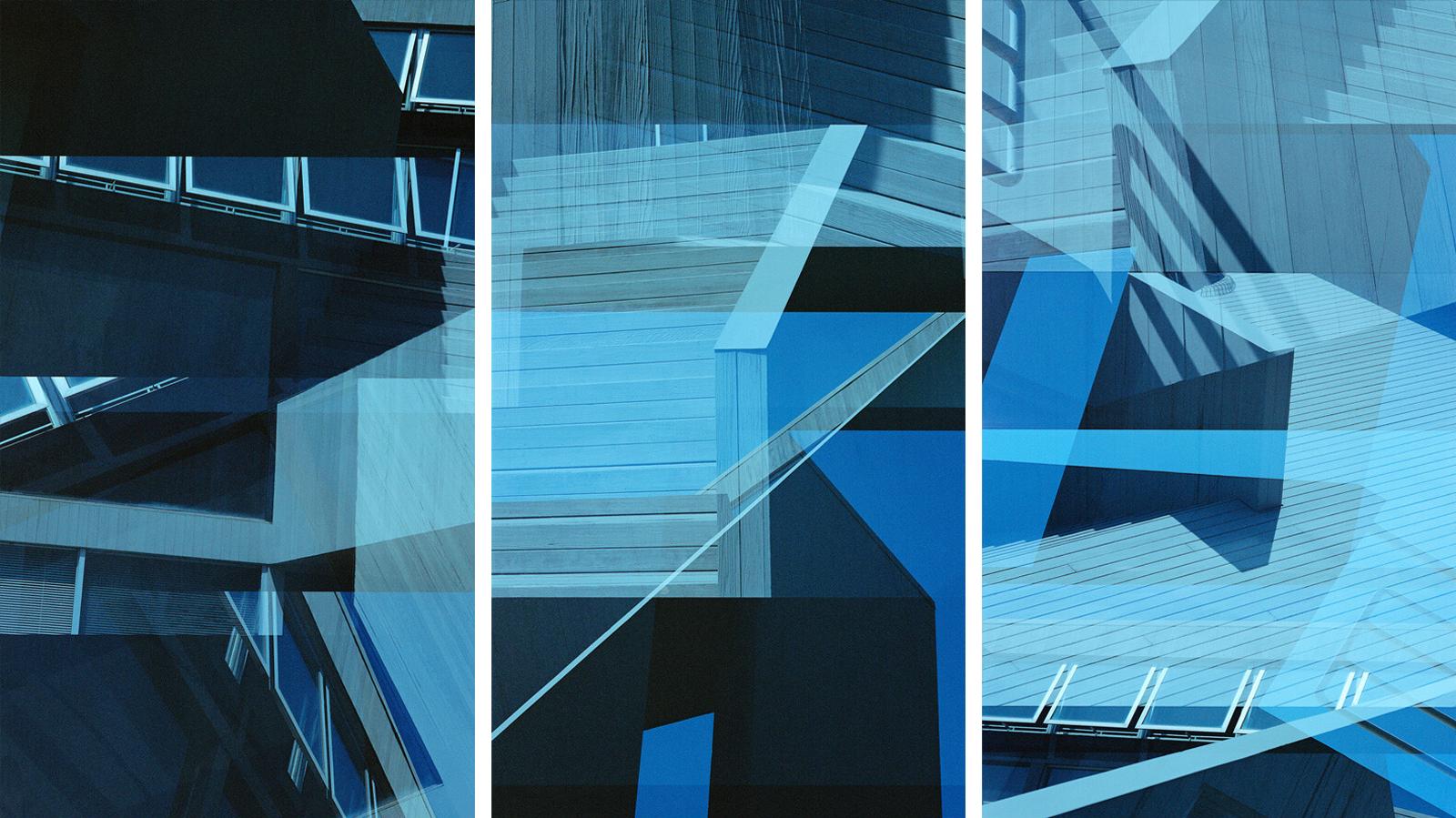 Gwathmey House Triptych - Jenny Okun