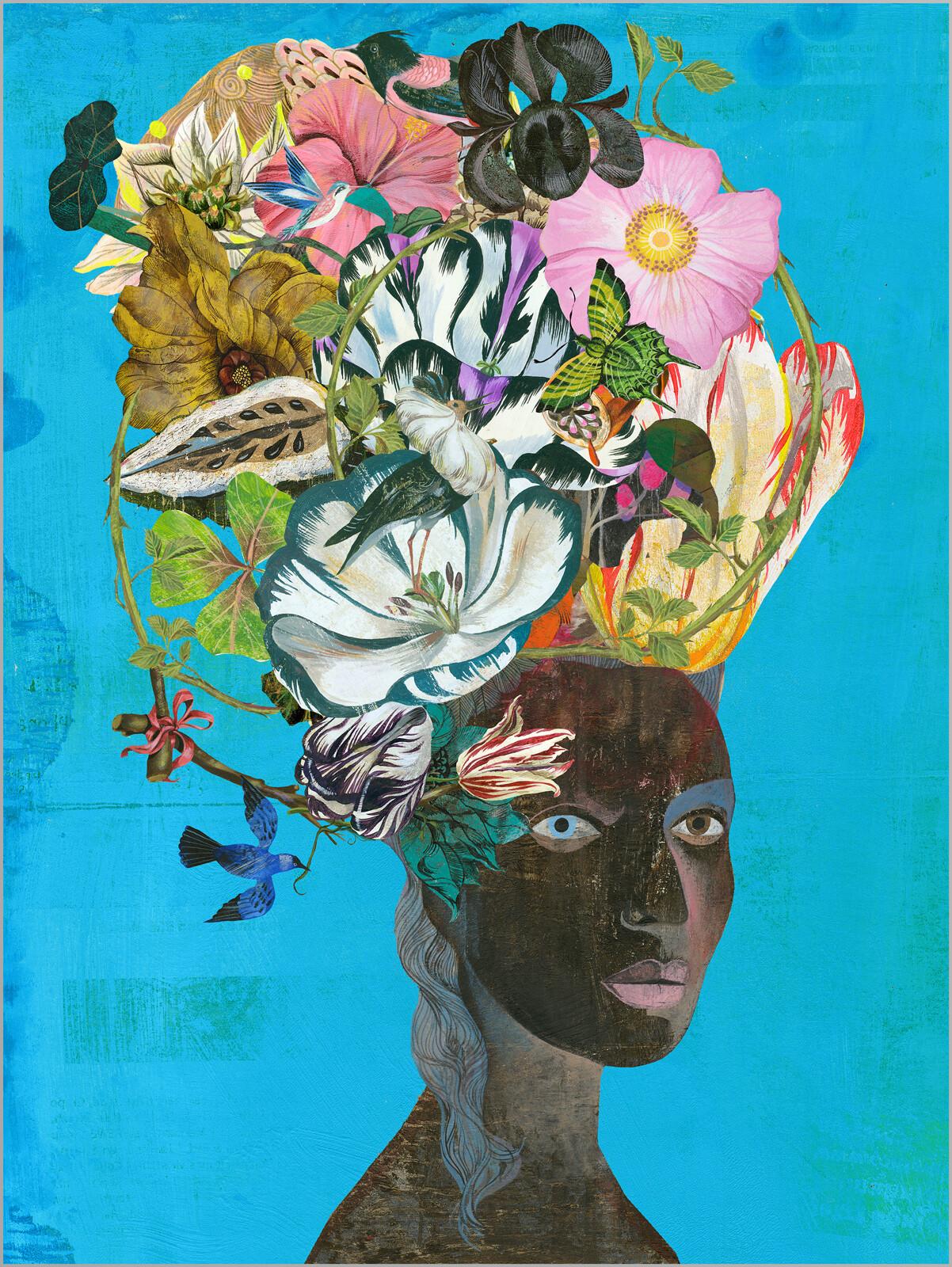 Black Antoinette Tulip - Olaf Hajek