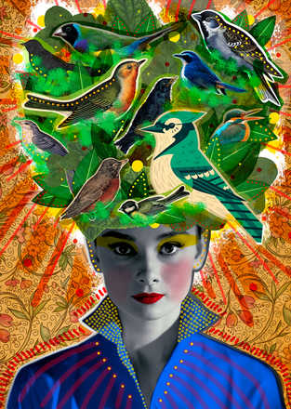 Your Head is Full of Birdies - Peperina Magenta