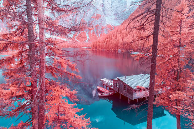Infrared Lake Braies I - Paolo Pettigiani