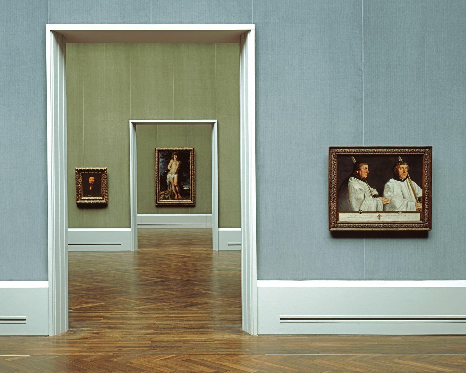 Gemäldegalerie blau/grün - Reinhard Görner