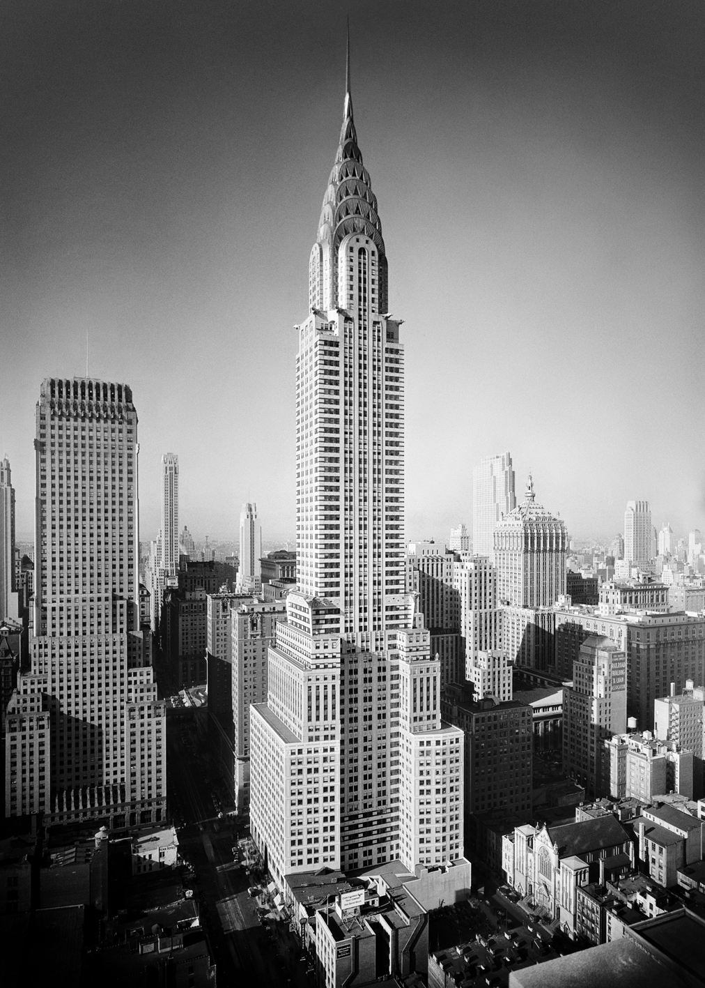 Empire State Building Black And White Photography