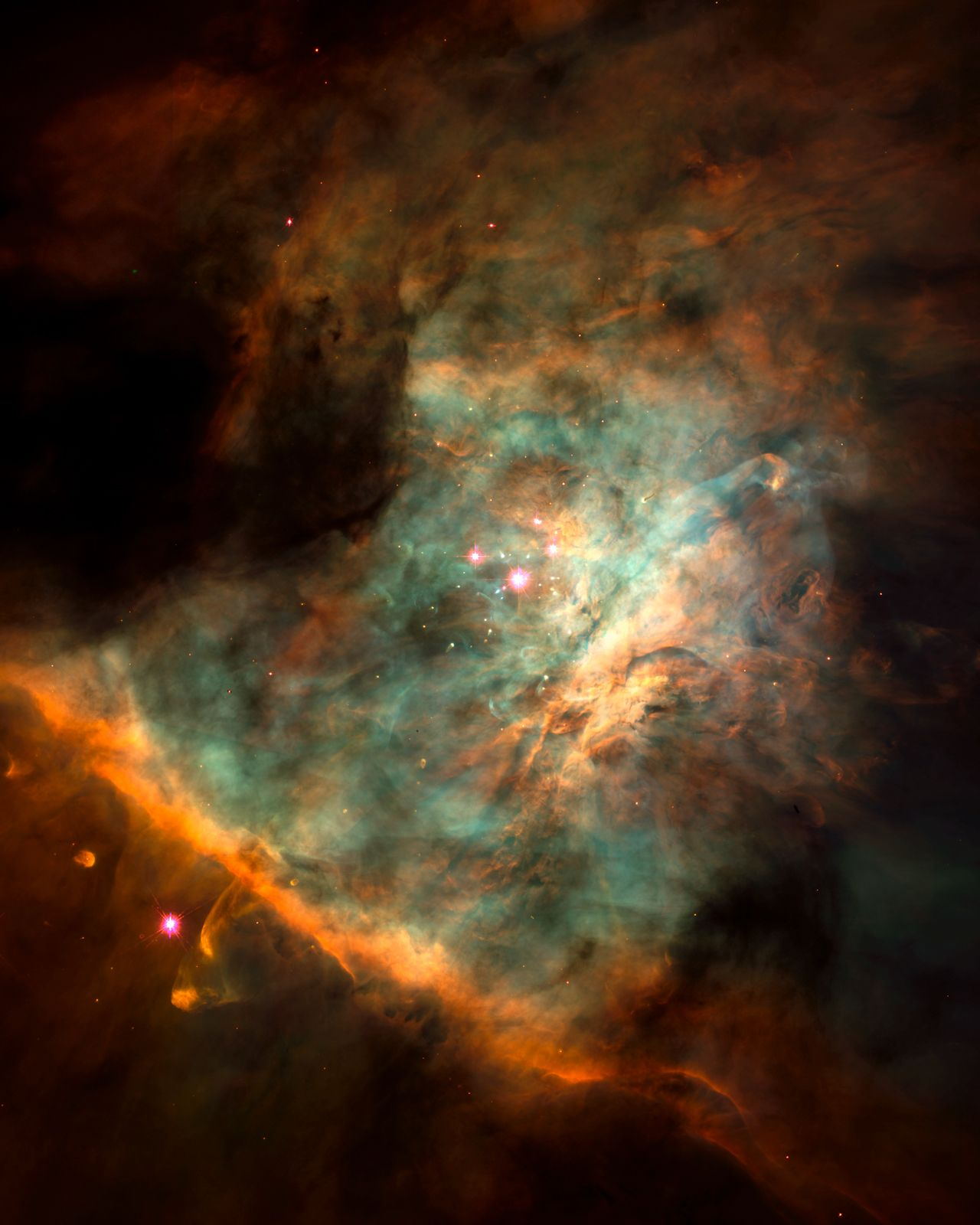 Orion nebula center (NASA/JPL - Caltech) - Hubble ...