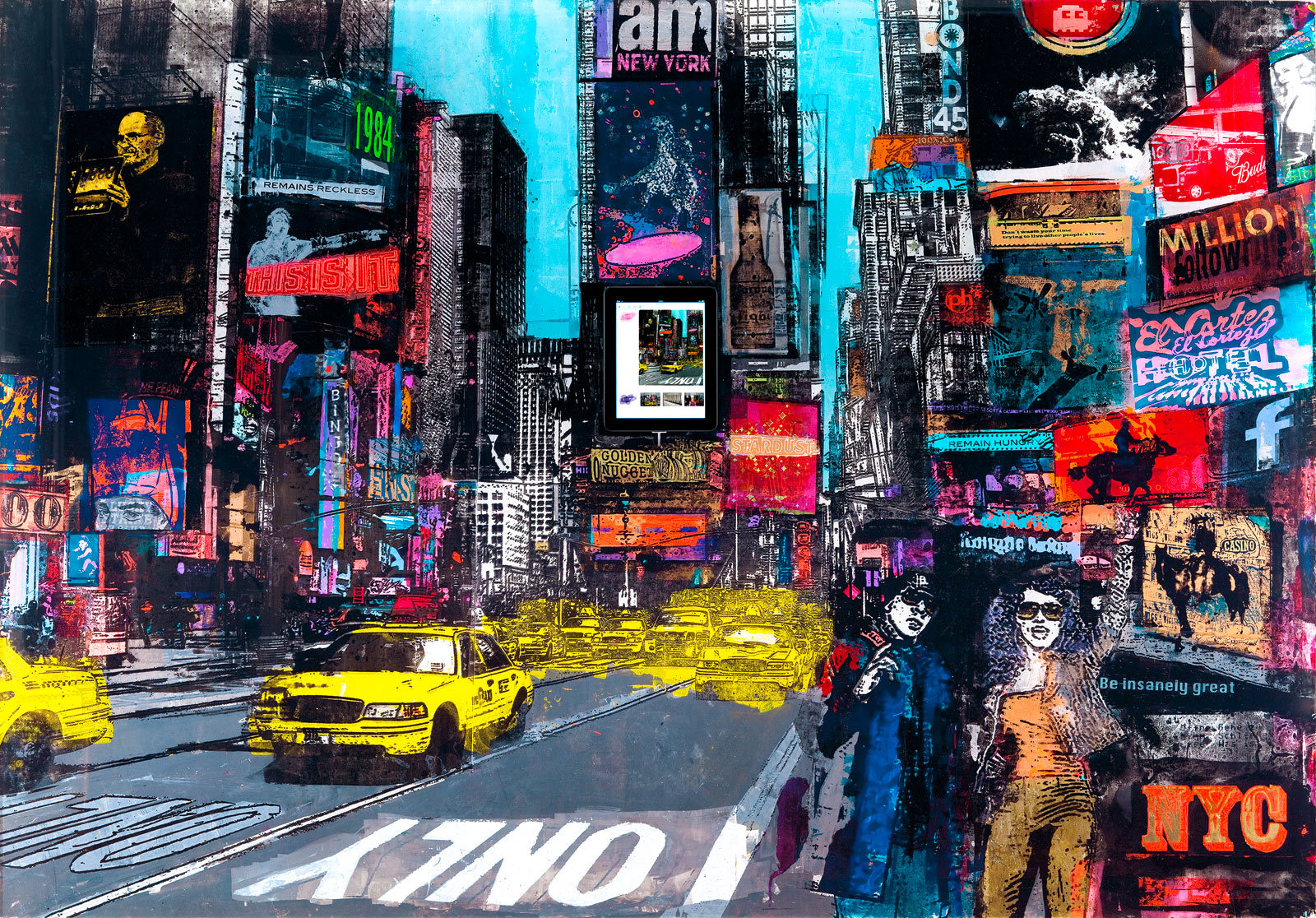 Times square sandra rauch tableaux photographie art - Photographie d art en ligne ...
