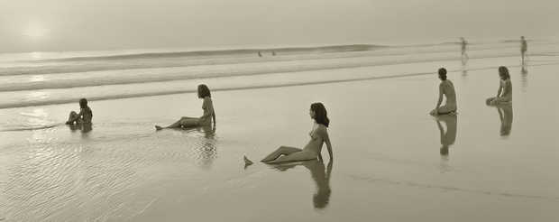 Allison, Lotte, Miranda, Maia and Vanessa; Montalivet, France, 2001 - Jock Sturges | Trunk Archive
