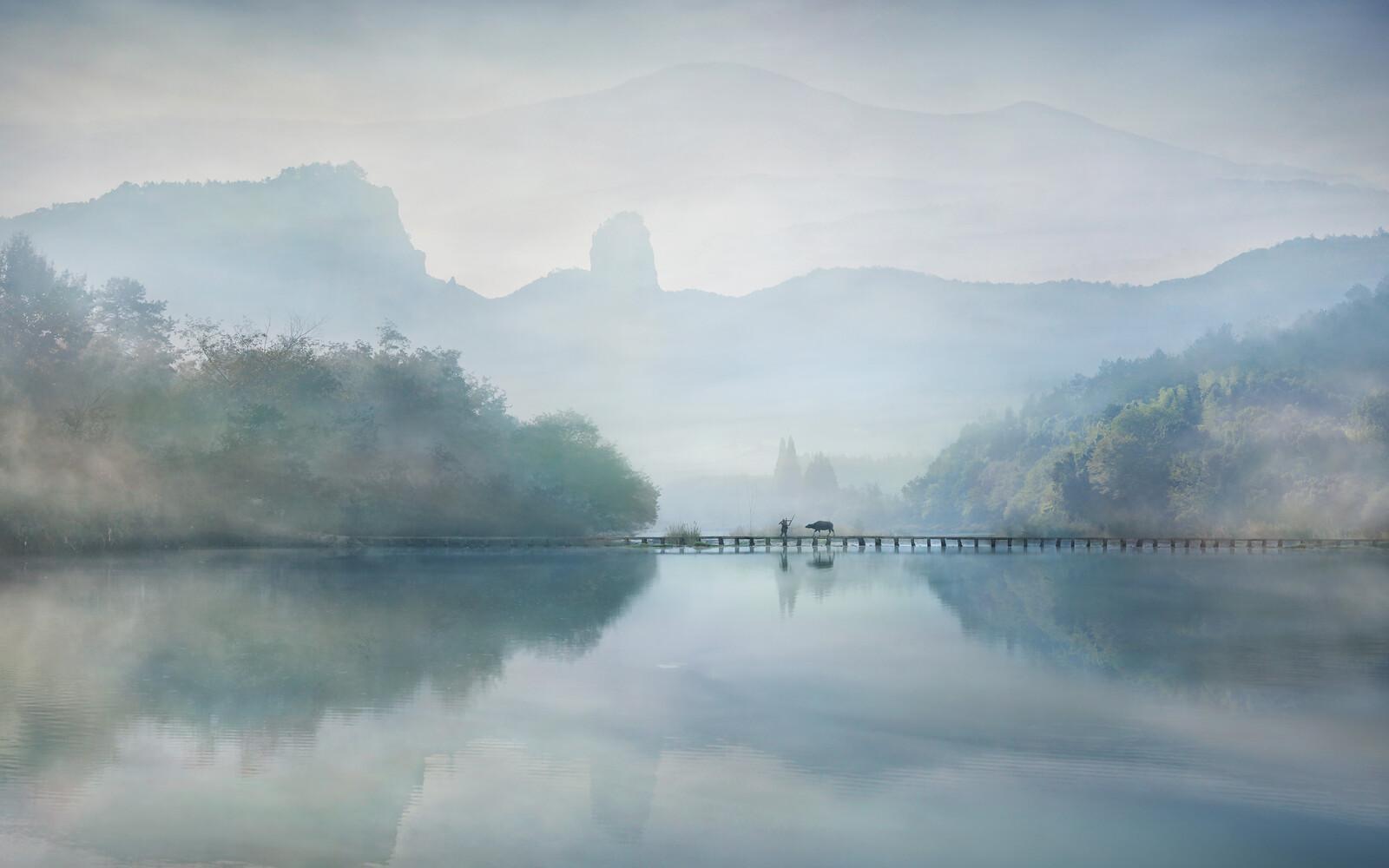Morning on the river - Vladimir Proshin
